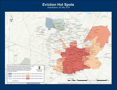 Eviction Hot Spots w Neighborhoods